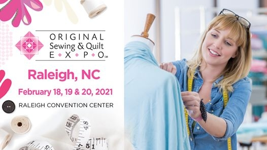 Unique original sewing quilt expo raleigh nc 2021 02 18 10 Modern Sewing & Quilt Expo