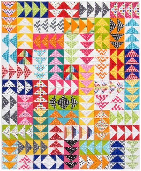 Unique remixed geese free pattern robert kaufman fabric company 11 Modern Flying Geese Quilt Patterns