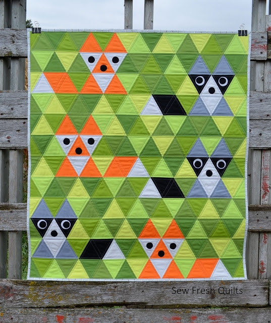 Unique sew fresh quilts fox friends equilateral triangle quilt 9 Modern Sew Fresh Quilts Quilt Along Inspirations