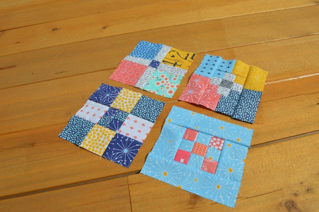 Unique super simple sampler quilt blocks color girl quilts 9 Unique 6 Inch Quilt Block Patterns Inspirations