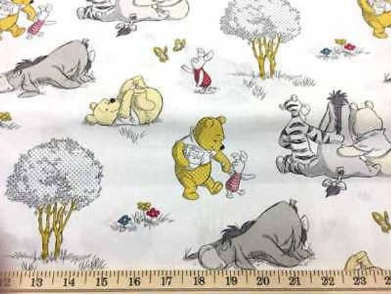 Unique winnie the pooh fabric disney pooh ba nursery fabric eeyore tigger piglet together apparel quilting cotton fabric 9 Elegant Winnie The Pooh Quilting Fabric Gallery