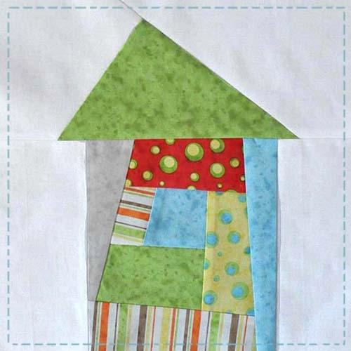 Unique wonky house quilt block tutorial jacquelynne steves 9 Unique House Quilt Block Patterns