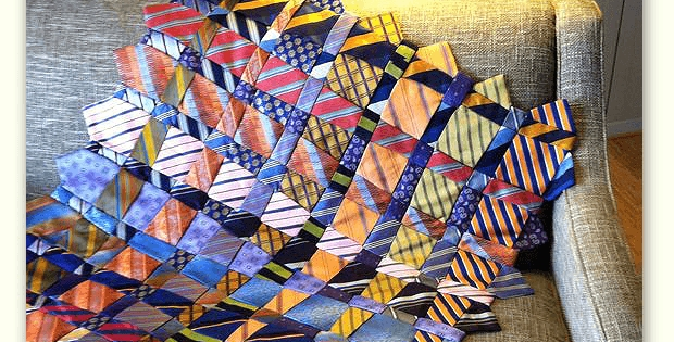 a memory quilt made from ties quilting digest 11 Elegant Necktie Quilt Ideas Inspirations