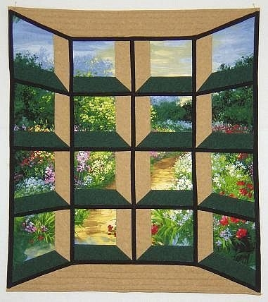 attic window quilt pattern variations great way to break up 10   Through The Window Quilt Pattern