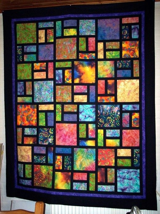 Beautiful batik stained glass quilt quilts batik quilts stained 11 Stylish Stained Glass Quilting Patterns Inspirations