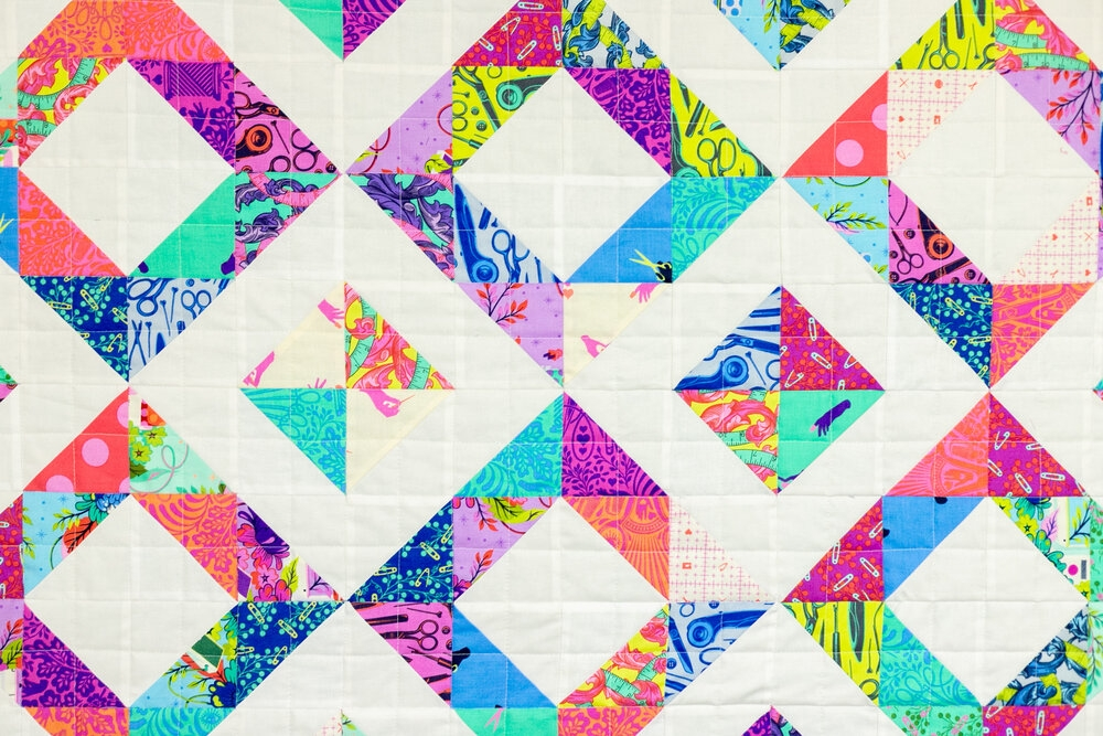 Beautiful childs play free quilt pattern easy ba quilt with half 10   Half Square Triangle Quilt Tutorial