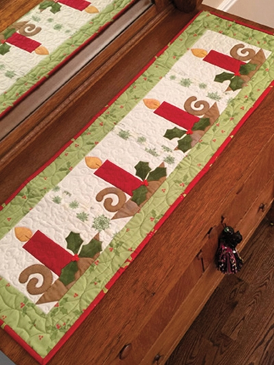 Beautiful christmas candle table runner pattern 10 Interesting Quilting Patterns Table Runners Inspirations