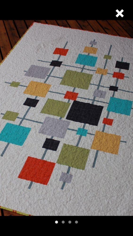 Beautiful contemporary quilt design modern quilts modern quilting 10   Contemporary Quilts Inspirations