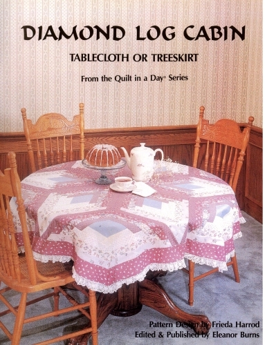 Beautiful diamond log cabin tablecloth or treeskirt quilt in a day books Cozy Eleanor Burns Log Cabin Quilt Pattern