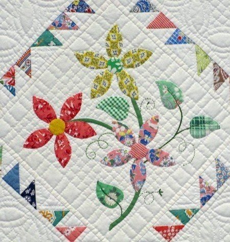 Beautiful floral patchwork quilts ideas on foter in 2020 flower Elegant Floral Patchwork Quilt Patterns