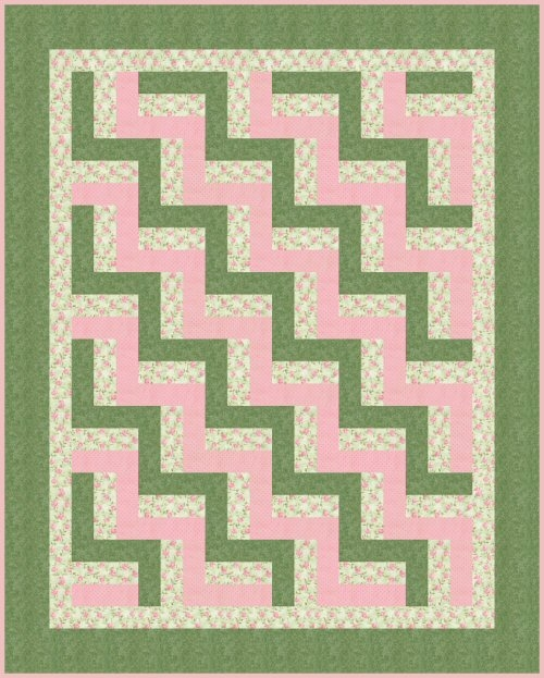 Beautiful free quilt pattern easy beginners ba rail fence 9 Elegant Fence Rail Quilt Pattern Gallery