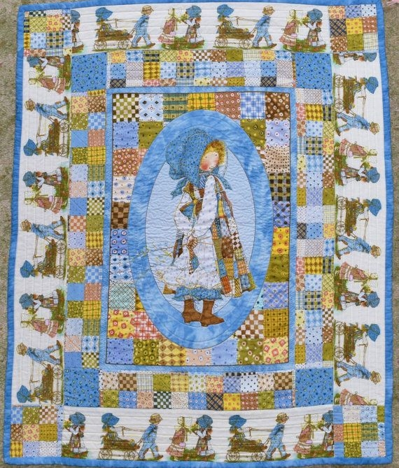 Beautiful holly hobbie ba quiltwallhanging angiestextileart on New Holly Hobbie Quilt Pattern Inspirations
