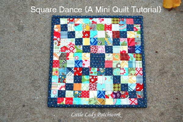 Beautiful little lady patchwork square dance mini quilt a tutorial 10 Modern Patchwork Square Quilt Patterns Inspirations