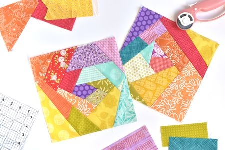 Beautiful modern crazy quilt pattern tutorial 9 Elegant Crazy Patch Quilt Pattern
