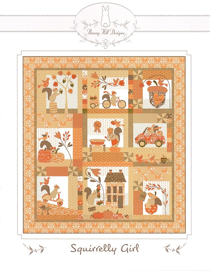 Beautiful squirrelly girl quilt pattern bunny hill designs bhd 2159 10 Interesting Bunny Hill Quilt Patterns Inspirations