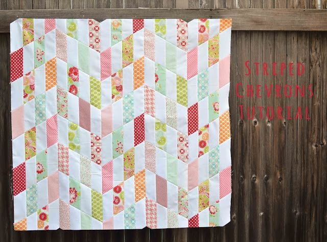 Beautiful striped chevrons quilt top and tutorial chevron ba 9 Beautiful Chevron Stripe Quilt Pattern Gallery