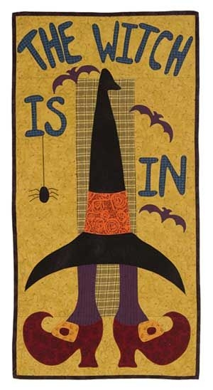 Beautiful the witch is in wall quilt halloween quilts witch quilt 11 Cool The Witch Is In Quilt Pattern Inspirations