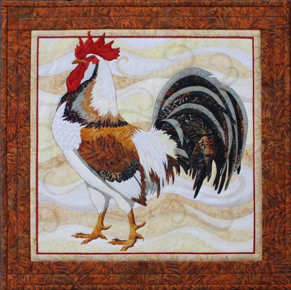Beautiful toni whitney design all gussied up rooster applique quilt pattern 9   Toni Whitney Quilt Patterns Gallery