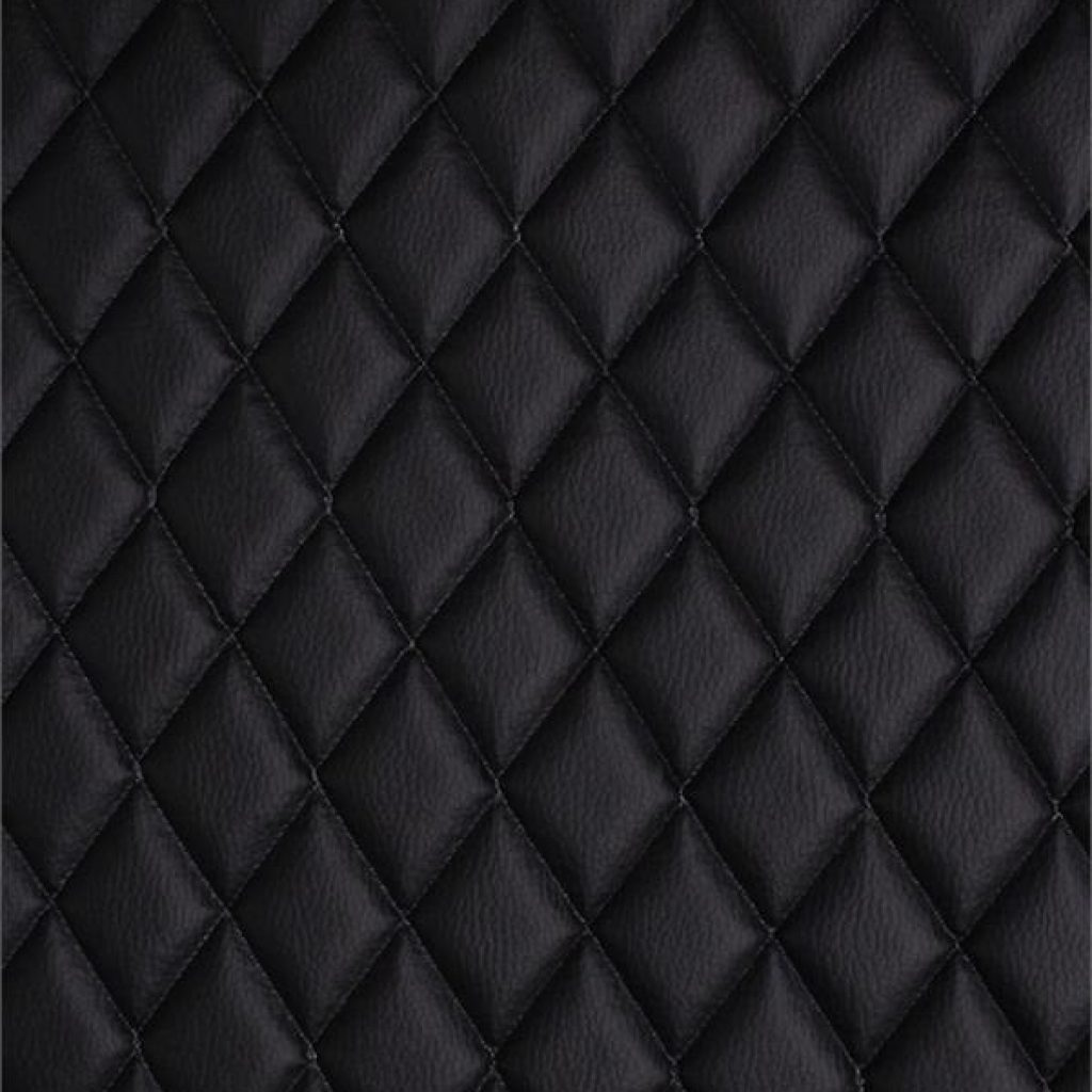 Beautiful vinyl grain texture quilted foam black fabric 2 x 3 Interesting Vinyl Quilted Fabric Gallery