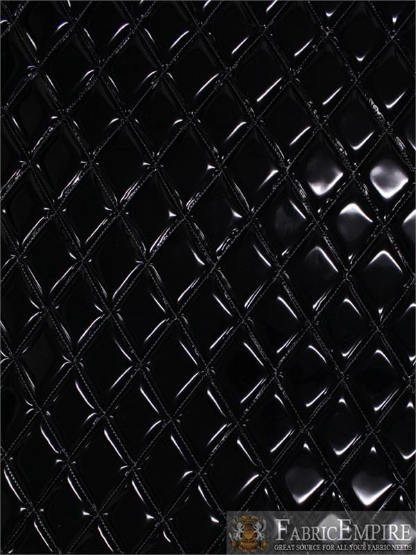 Beautiful vinyl patent quilted foam glossy black fabric 2 x 3 Interesting Vinyl Quilted Fabric Gallery
