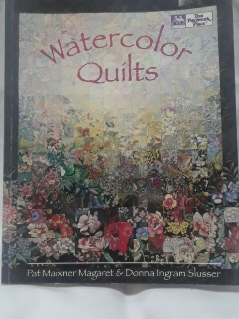 Beautiful watercolor quilts pat maixner magaret donna ingram slusser 1993 Cozy Watercolor Quilts Gallery