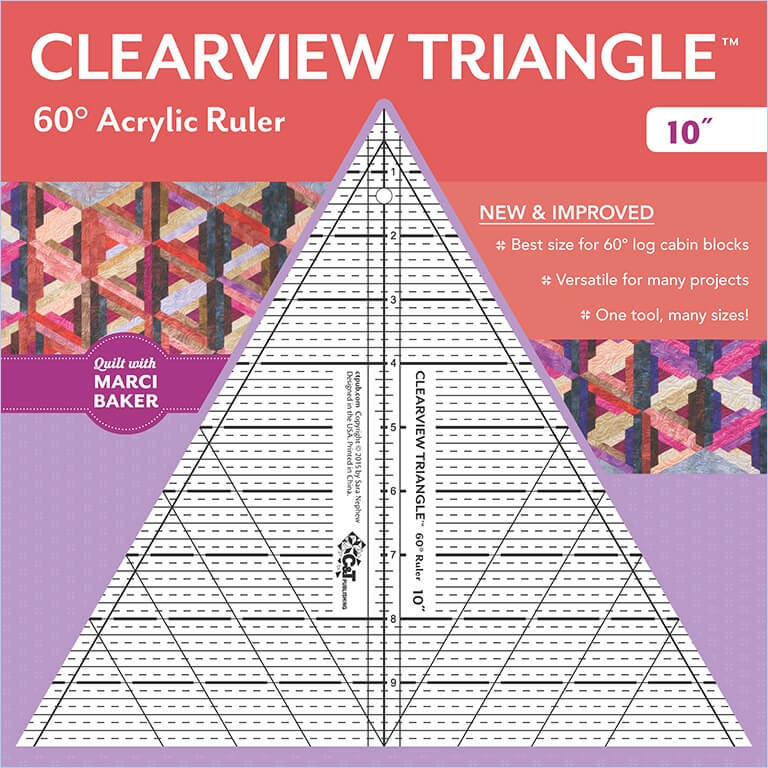 Cool 10 clearview triangle 60 acrylic ruler 10 Stylish 60 Degree Triangle Quilting Ruler Gallery