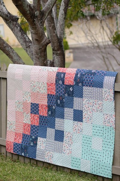 Cool 25 free ba quilt patterns tutorials polka dot chair New Patchwork Baby Quilt Pattern Inspirations