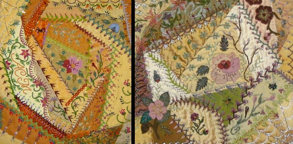 Cool crazy gorgeous 18 crazy patchwork embroidery designs 9 Elegant Crazy Patch Quilt Pattern