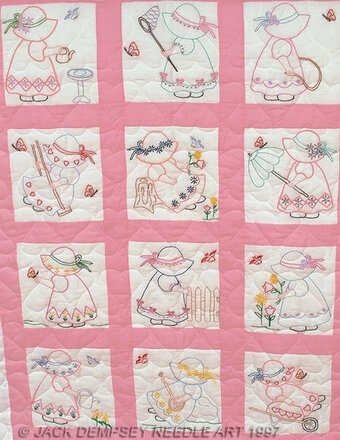 Cool girls nursery quilt blocks embroidery kit 9 Elegant Jack Dempsey Quilt Blocks Gallery