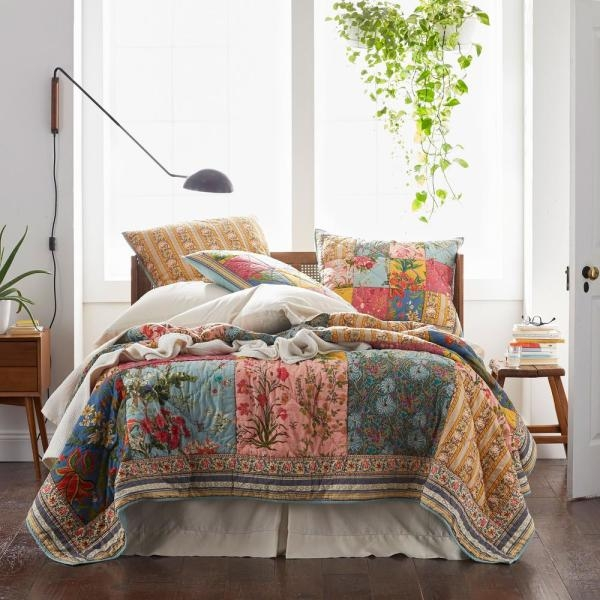 Cool the company store rani multicolored vintage floral 11 Unique Vintage Patchwork Quilt Bedding Gallery
