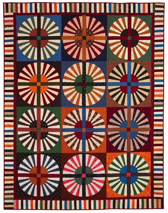 Cozy block friday wheel quilts fons porter quilting daily 9 Elegant Wagon Wheel Quilt Pattern Gallery