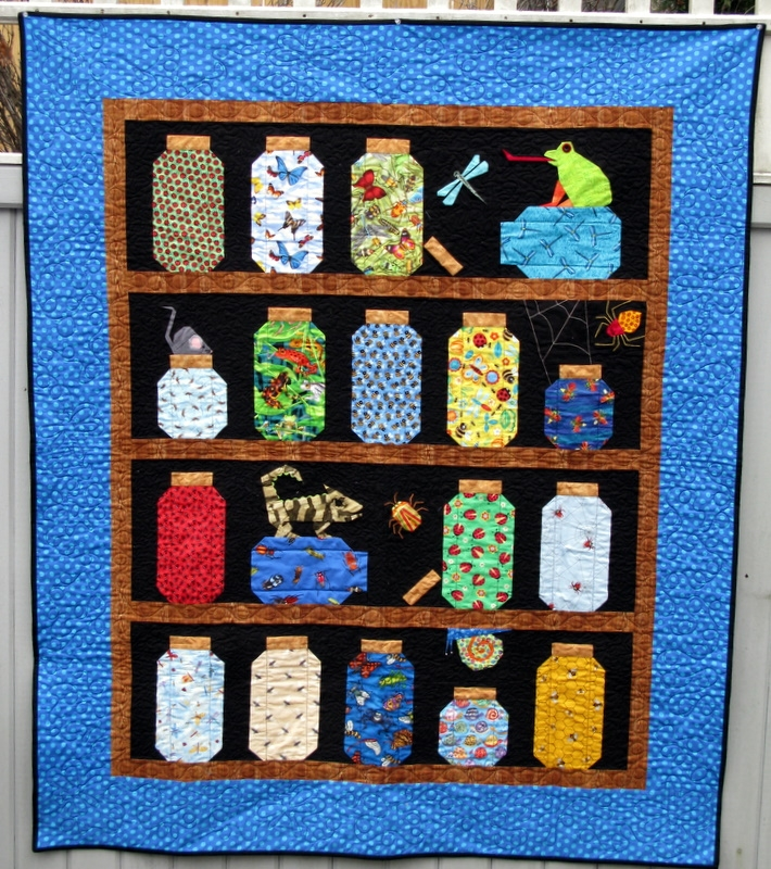 Cozy bug jar quilt for grandson quiltingboard forums New Bugs In A Jar Quilt Pattern