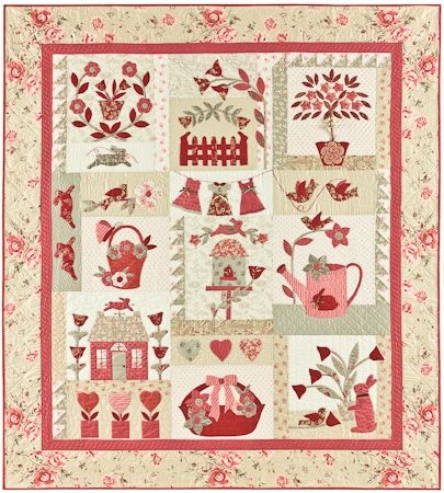 Cozy bunny hill le jardin 59 x 65 le jardin is a french garden 10 Interesting Bunny Hill Quilt Patterns Inspirations