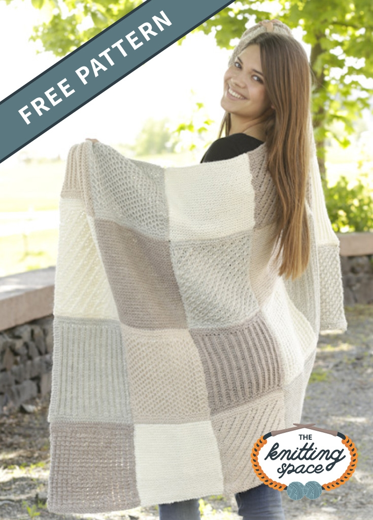 Cozy comfort knitted patch blanket free knitting pattern 11 Stylish Patchwork Quilt Knitting Pattern