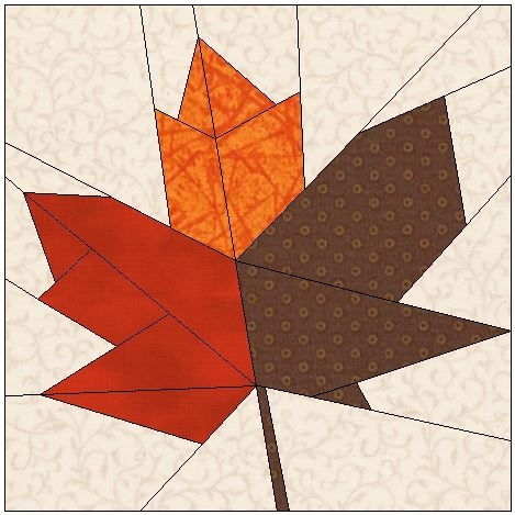 Cozy foundation quilt patterns using electric quilt 10 Cool Maple Leaf Quilt Patterns Gallery