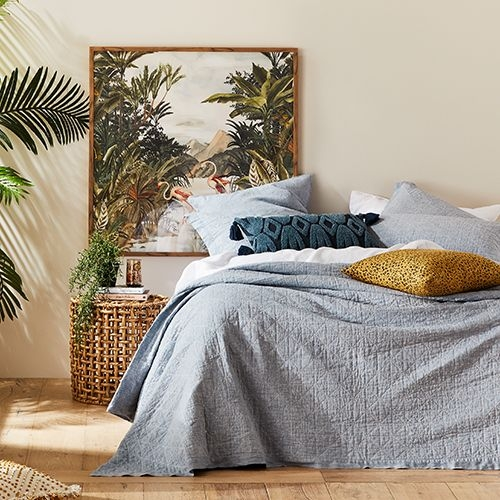 Cozy home republic vintage washed linen coverlet bedroom 9 Cozy Vintage Linen Quilt Cover Gallery