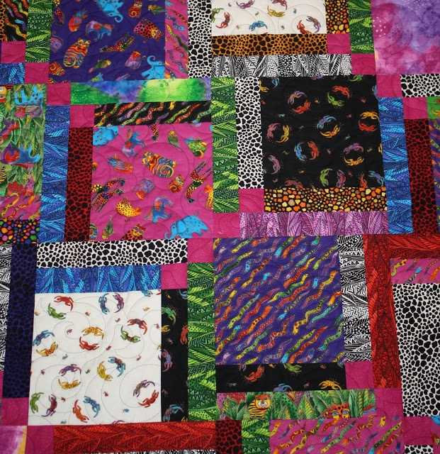 Cozy just let me quilt laurel burch quilt almost finished 9 Cozy Laurel Burch Quilt Fabric