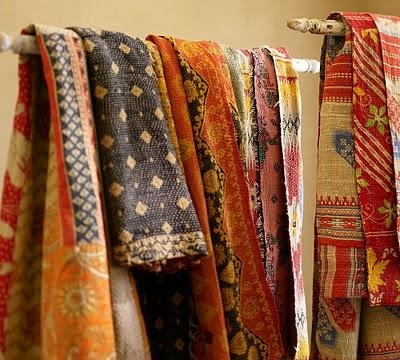 Cozy kantha blankets archives vintage kantha quilts throw 10 Modern Vintage Kantha Quilt