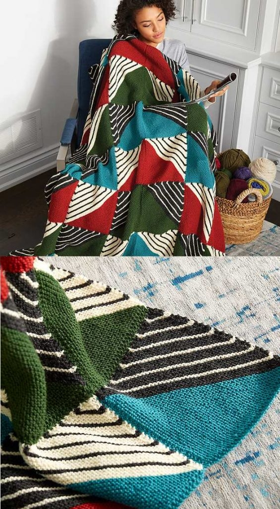 Cozy knit patchwork blanket free pattern 11 Stylish Patchwork Quilt Knitting Pattern