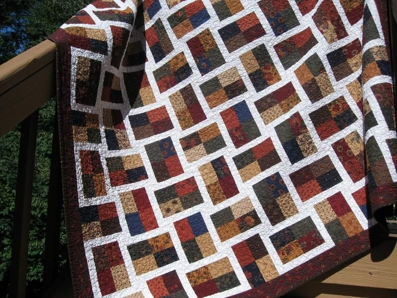 Cozy lons quilt project on craftsy free quilting quilt 10 Cool Sparkling Genstones Quilt Pattern
