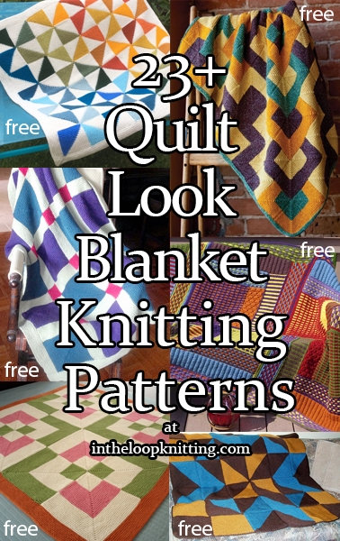 Cozy quilt ba blanket and afghan knitting patterns in the 11 Modern Knitted Patchwork Quilt Patterns