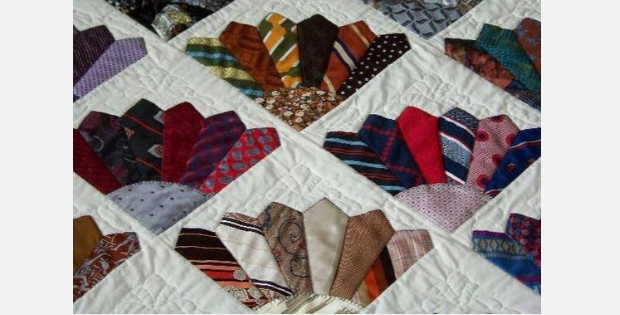 Cozy six mens ties to make a fancy fans block then make a 11 Elegant Necktie Quilt Ideas Inspirations