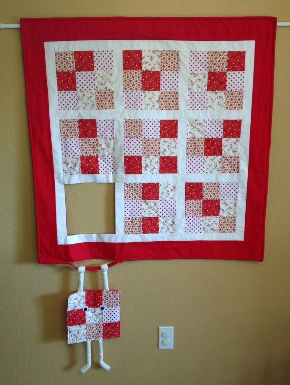 Cozy this humorous wall hanging will be custom made for you in 11 Beautiful Quilted Wall Hanging Pattern Inspirations
