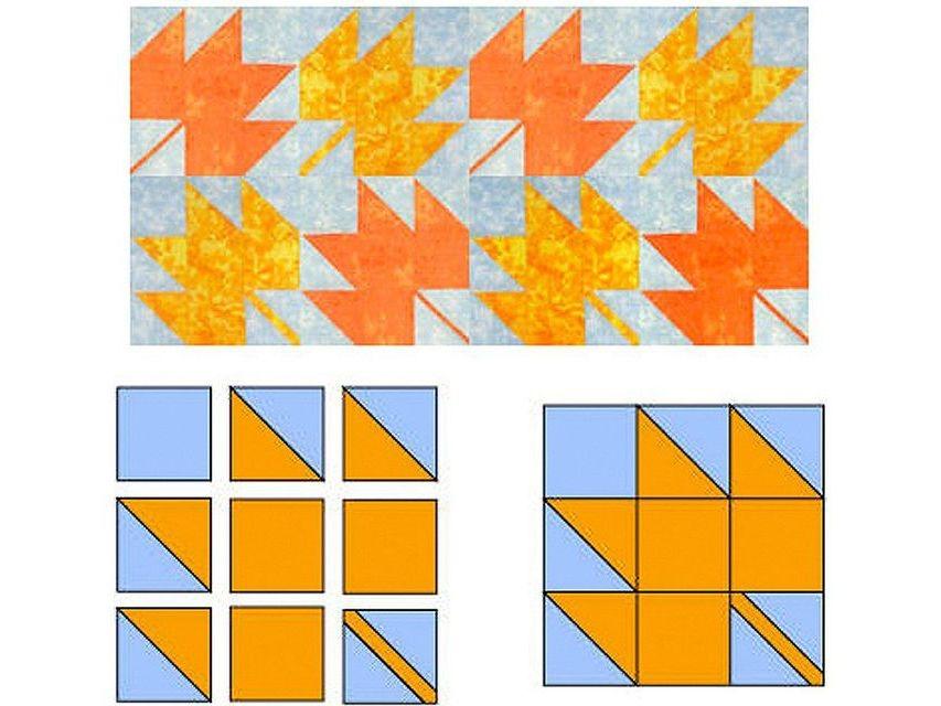easy maple leaf quilt block pattern 10 Unique Maple Leaf Quilt Patterns
