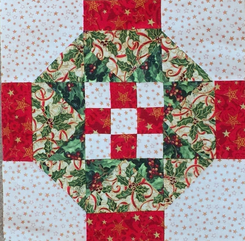 Elegant beautiful 9 christmas starts quilt pre cut block kits lk Unique New Pre Quilted Christmas Fabric Gallery