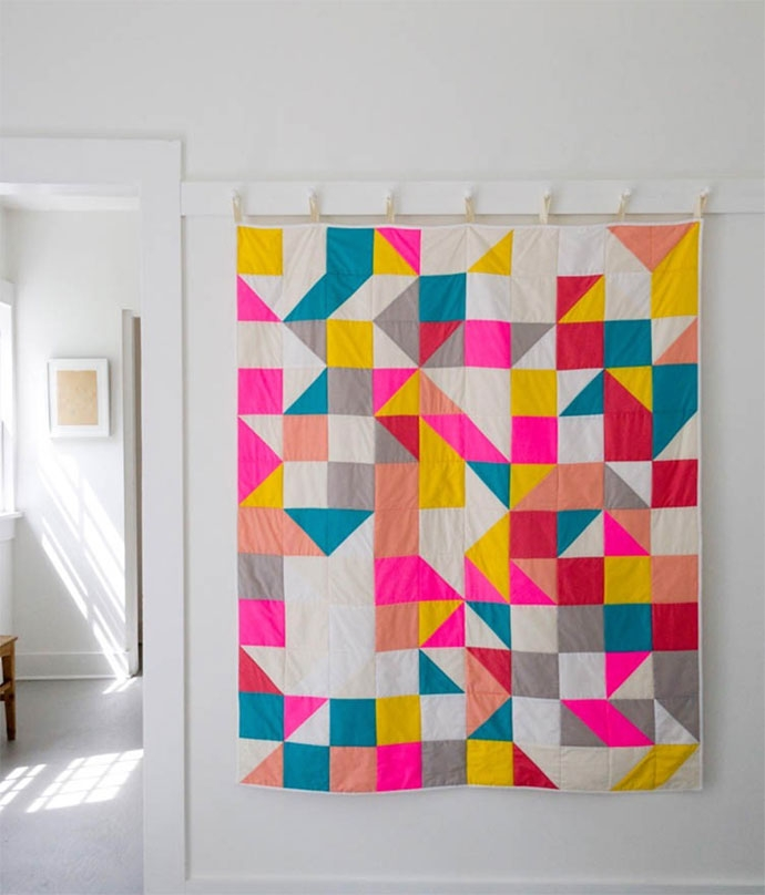 Elegant colorful contemporary quilts handmade charlotte 10   Contemporary Quilts Inspirations
