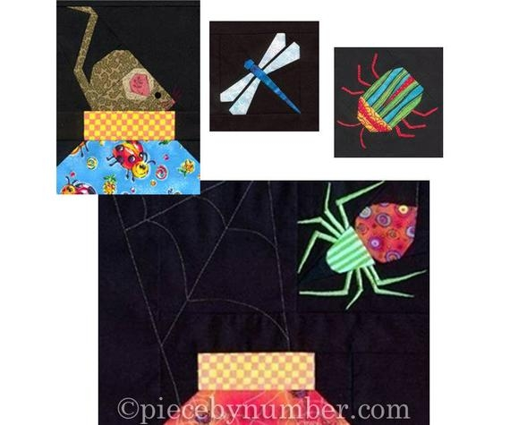 Elegant escaping bugs bottle quilt pattern paper pieced quilt patterns bug jars quilt pattern bug quilt pattern insect quilt pattern New Bugs In A Jar Quilt Pattern