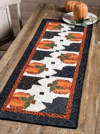 Elegant exclusively annies quilt designs pumpkin hollow table runner pattern 10 Interesting Quilting Patterns Table Runners Inspirations