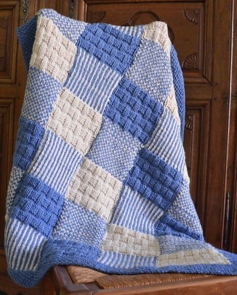 Elegant free knitting pattern for patchwork ba blanket knit ba 11 Modern Knitted Patchwork Quilt Patterns