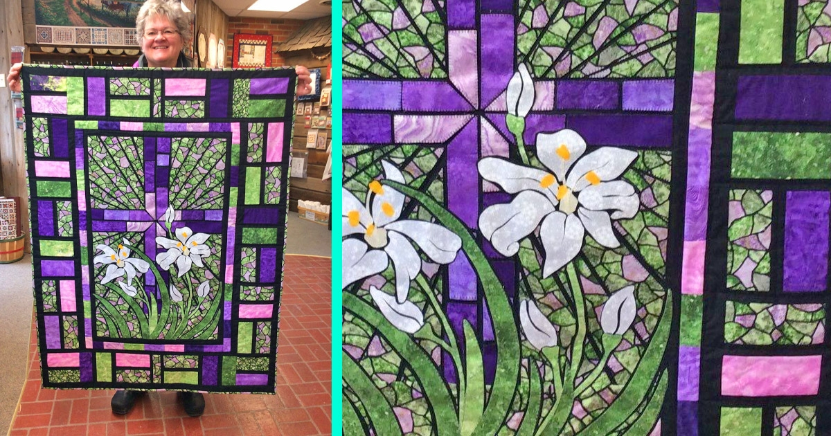 Elegant people are making stained glass quilts and they look 11 Stylish Stained Glass Quilting Patterns Inspirations